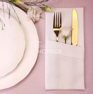 white cutlery pocket